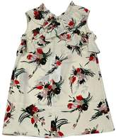 Marni Flower Cross Ruffled Dress