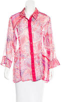Cacharel Sheer Button-Up Top