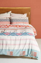 Anthropologie Home Rosewood Duvet Cover