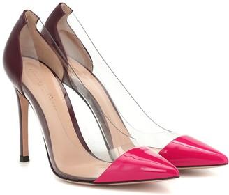 Gianvito Rossi Plexi 105 patent-leather pumps