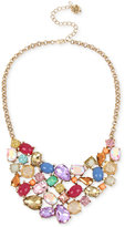 Betsey Johnson Gold-Tone Multicolor Stone and Crystal Collar Necklace