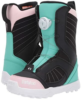 thirtytwo Boa (Little Kid/Big Kid) (Black/Pink/Green) Women's Cold Weather Boots