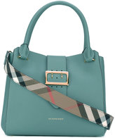 Burberry House Check tote bag - women - Cotton/Calf Leather/Polyamide - One Size
