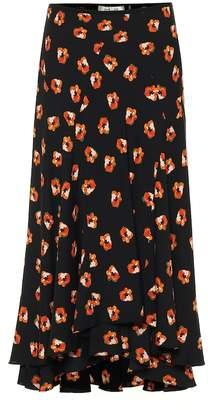 Diane von Furstenberg Debra stretch-silk midi skirt