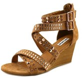Not Rated Serpent Open Toe Canvas Wedge Sandal.
