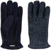 Lardini fitted knitted gloves