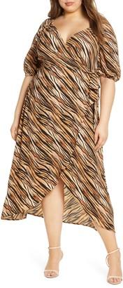 Leith Short Sleeve Wrap Maxi Dress