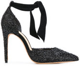 Alexandre Birman pointed glitter sandals - women - Leather/Polyamide - 36