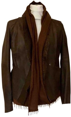 Free People Brown Leather Jacket for Women