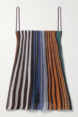 Missoni Striped Metallic Crochet-knit Camisole - Gray