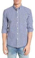 Jack Spade Men's Trim Fit Gingham Poplin Sport Shirt