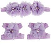 Sannysis HOT Colorful Foot Flower Barefoot Sandals Headband Set for Baby Infants Girls
