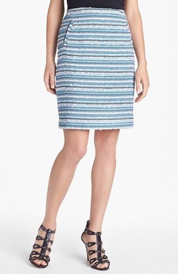 Halogen Textured Pencil Skirt