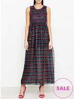 Anna Sui Cherry Print Maxi Dress