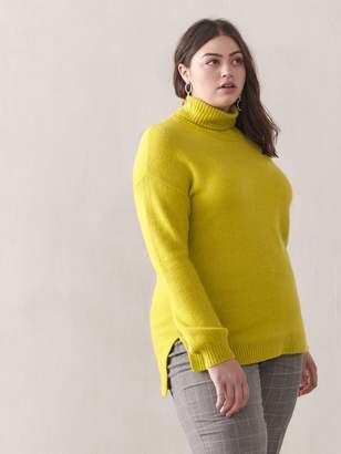 Addition Elle Hi-Low Mock-Neck Sweater