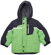 London Fog Green & Black Removable-Lining Puffer Coat - Boys