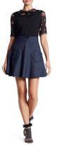 Anna Sui Indigo Star Patch Pocket Skirt