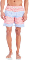 Franks Red & Blue Dash Stripe Swim Trunks