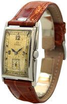 One Kings Lane Vintage Omega Rectangular Steel Watch, 1938