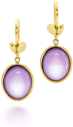 Tiffany & Co. Paloma Picasso Olive Leaf drop earrings in 18k gold with amethysts