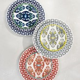 Ikat Melamine Salad Plates, Set of 4