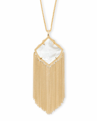Kendra Scott Kingston Long Pendant Necklace in Gold