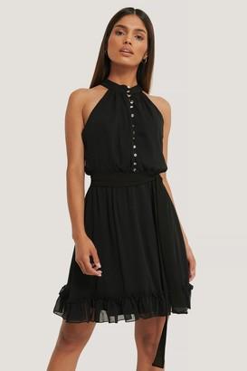 Trendyol Stone Buttoned Mini Dress