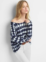 Gap Slouchy print boatneck sweater