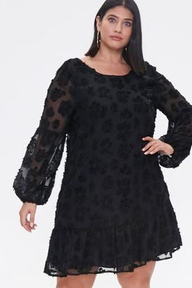 Forever 21 Plus Size Floral-Embellished Peasant Dress