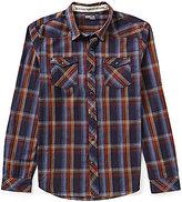 O'Neill Timshel Plaid Long-Sleeve Lightweight Crepe Shirt