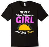 Men's Funny Girl Tacos T-shirt Food Meme Girl Power Quote Gift Small