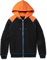 Balmain - Contrast-trimmed Loopback Cotton-jersey Zip-up Hoodie