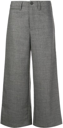 Reformation Peche cropped trousers