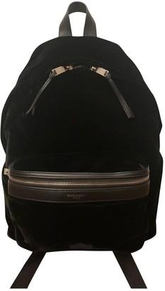 Saint Laurent Black Velvet Backpacks