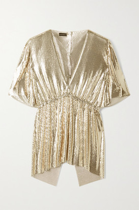 Paco Rabanne Chainmail Blouse - Gold
