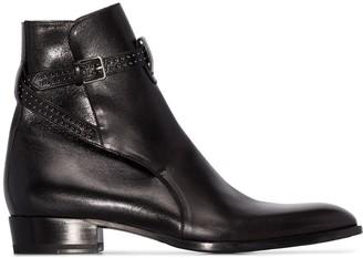 Saint Laurent Wyatt buckled ankle boots