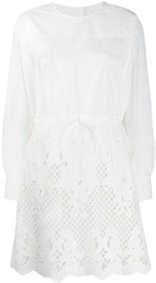 See by Chloe laser-cut shirt dress