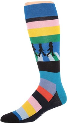 Happy Socks Beatles Legend Crossing Sock (Light Blue/Multi) Men's Crew Cut Socks Shoes