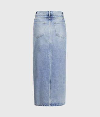 AllSaints Dottie Denim Maxi Skirt