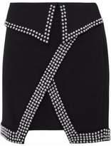 L'Agence Amelie Studded Cady Mini Skirt