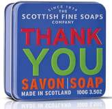 Scottish Fine Soaps Thank You Soap in a Tin by 100g Bar)