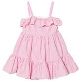 Ralph Lauren Pink Seersucker Frill Dress
