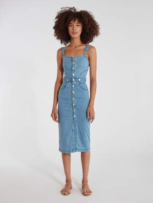 Finders Keepers Mia Denim Midi Dress