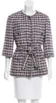 Chanel Houndstooth Belted Jacket