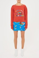 Topshop **Northside Embroidered Boxy Sweatshirt by Unique