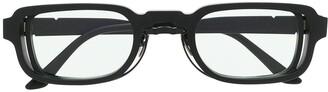 Kuboraum N12 rectangle-frame glasses