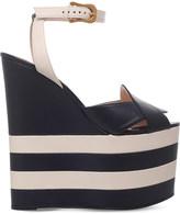 Gucci Sally leather platform wedge sandals