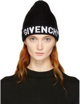 Givenchy - Bonnet à logo noir et blan