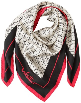 Valentino Signature Stripes Printed Silk Scarf