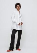 Wunderkind white high collar shirt
